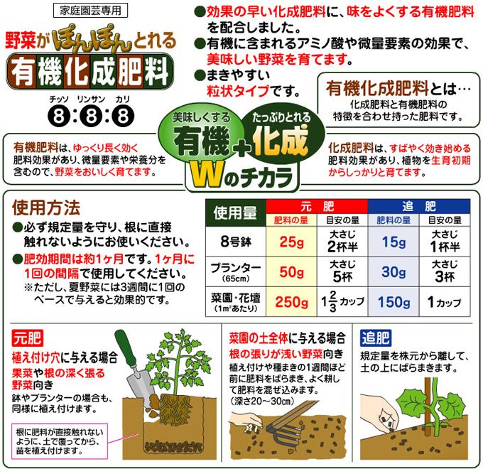有機化成肥料