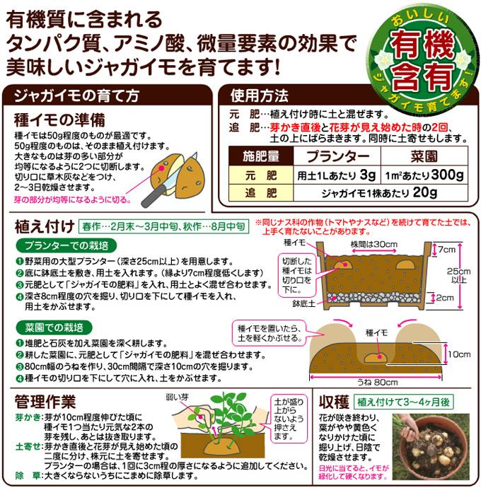 ジャガイモの肥料