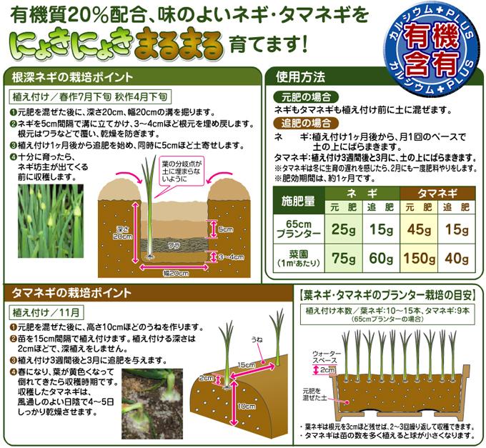 ねぎ・たまねぎの肥料