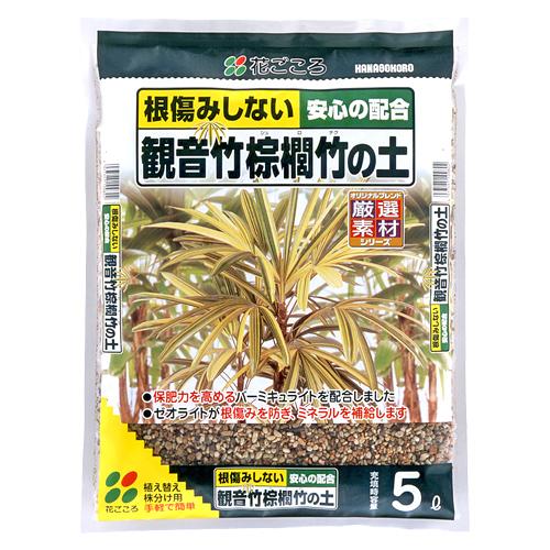 観音竹・棕櫚竹の土