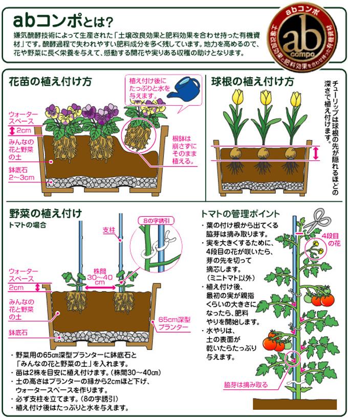 みんなの花と野菜の土