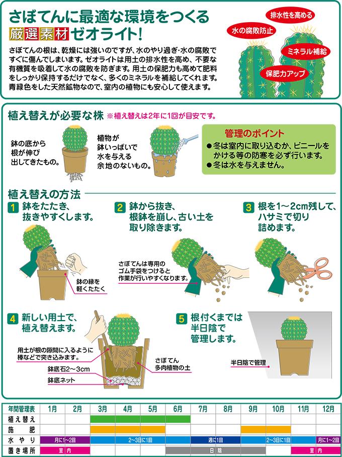 さぼてん多肉植物の土(細粒)