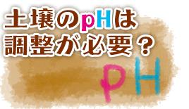 土壌のpHは調整が必要?