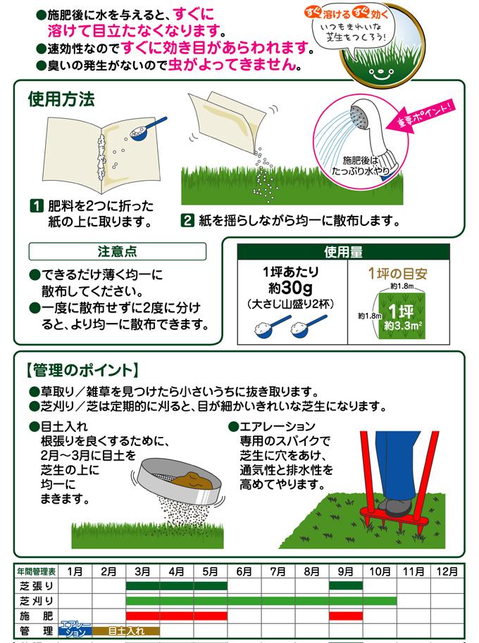 まいてすぐ消える芝の肥料