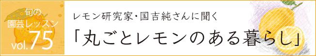 レッスン75 レモン研究家・国吉純さんに聞く「丸ごとレモンのある暮らし」