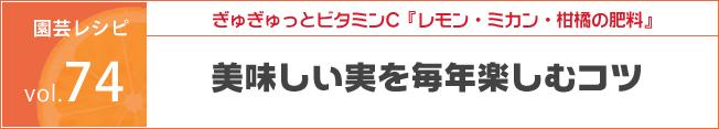 花ごころ 園芸レシピ74/ぎゅぎゅっとビタミンC『レモン・ミカン・柑橘の肥料』 美味しい実を毎年楽しむコツ